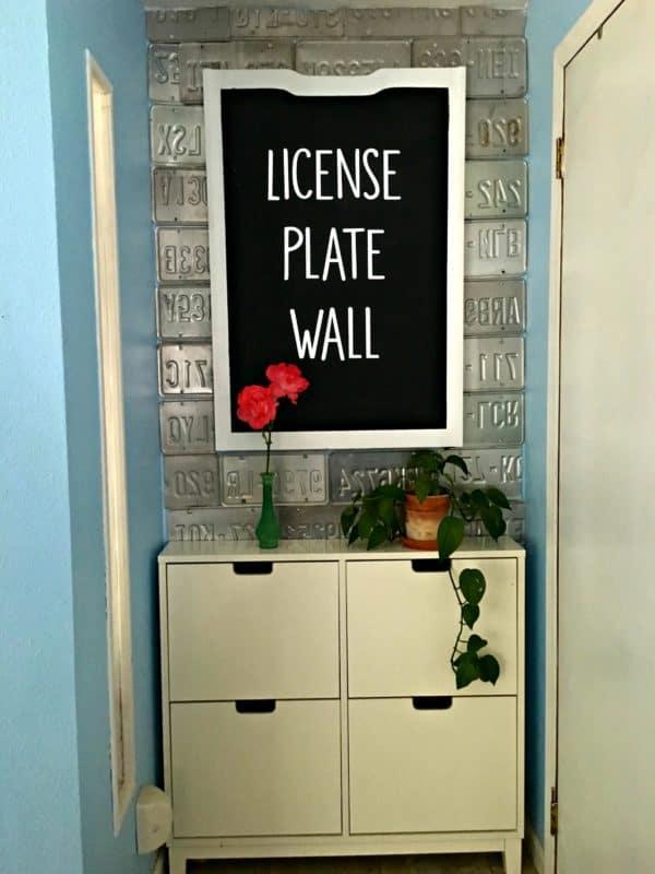 Diy License Plate Wall Recycling Metal