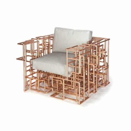 Amazing Copper Piping Chair by Brc Designs