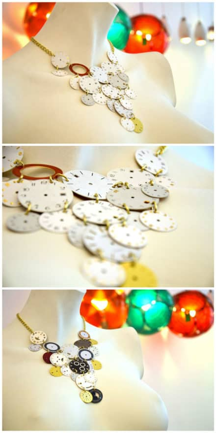 Fancy Necklaces Made Out Of Upcycled Dials Watches