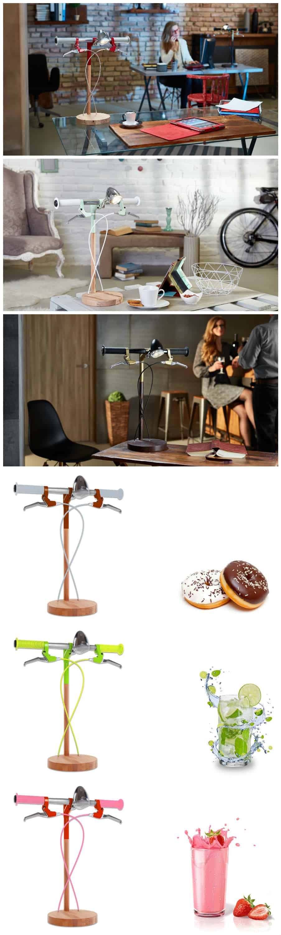 bike me home u2013 industrial kid desk lamps bring cycling obsession to your desk u2022 recyclart