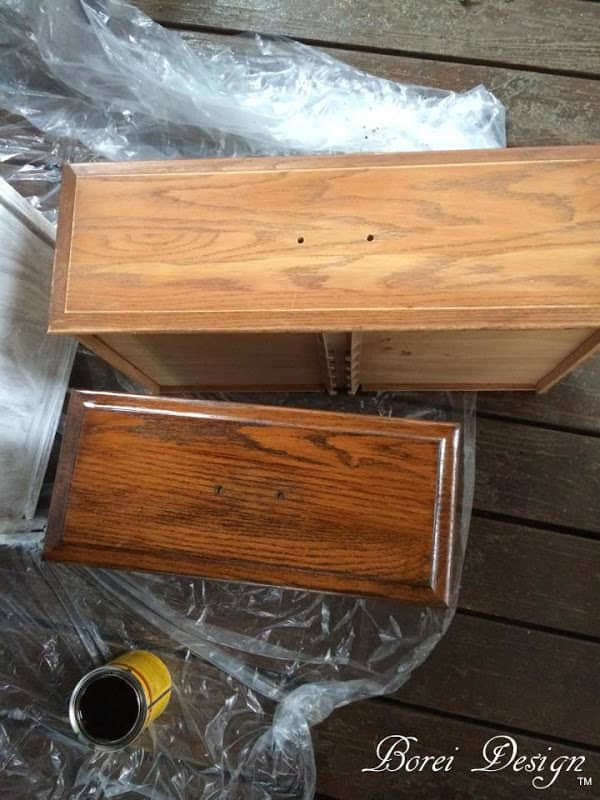 how-to-refinish-wood-furniture-dresser-stain-diy-tutorial