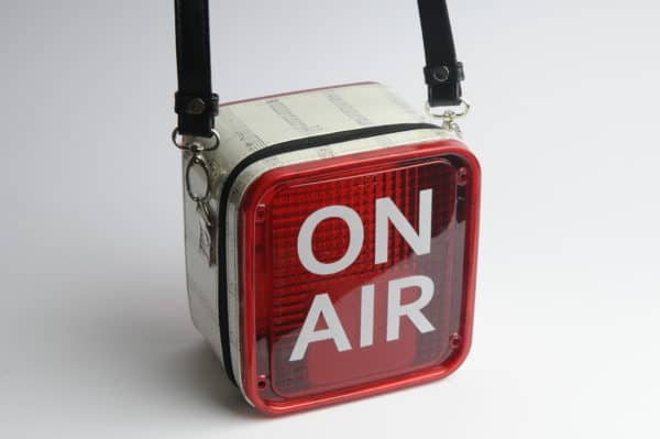 On Air Women Handbag from Repurposed Light Box Clothing
