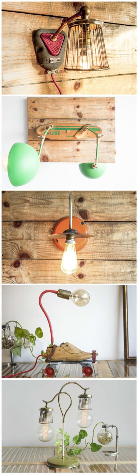 Upcycled Lamps by Studio Oryx