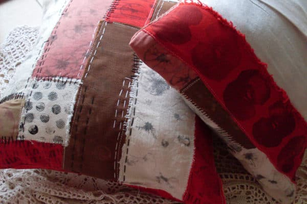 Lovely Patched Cushions Accessories Home Improvement