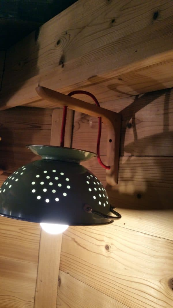 Pasta Lights From Upcycled Skateboards & Colander Lamps & Lights