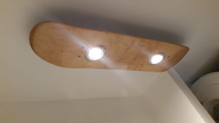 Pasta Lights From Upcycled Skateboards & Colander