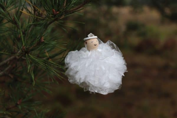 Christmas Angel Ornaments From Re-used Plastic Sandwich Bags Do-It-Yourself Ideas Recycled Plastic