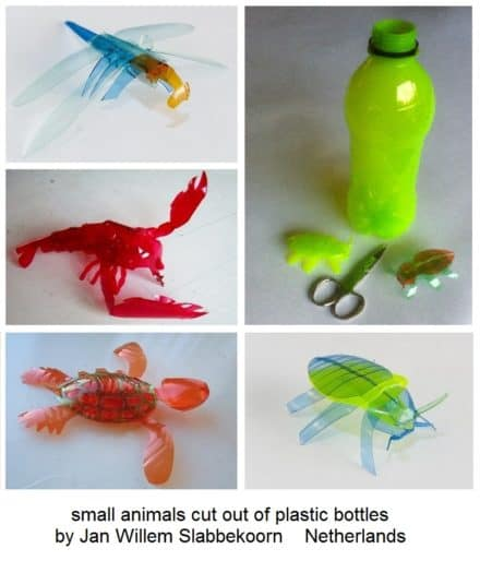 Animals Cut out of Plastic Bottles