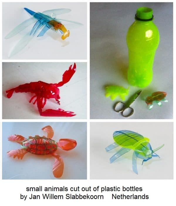Animals Cut out of Plastic Bottles Recycled Plastic