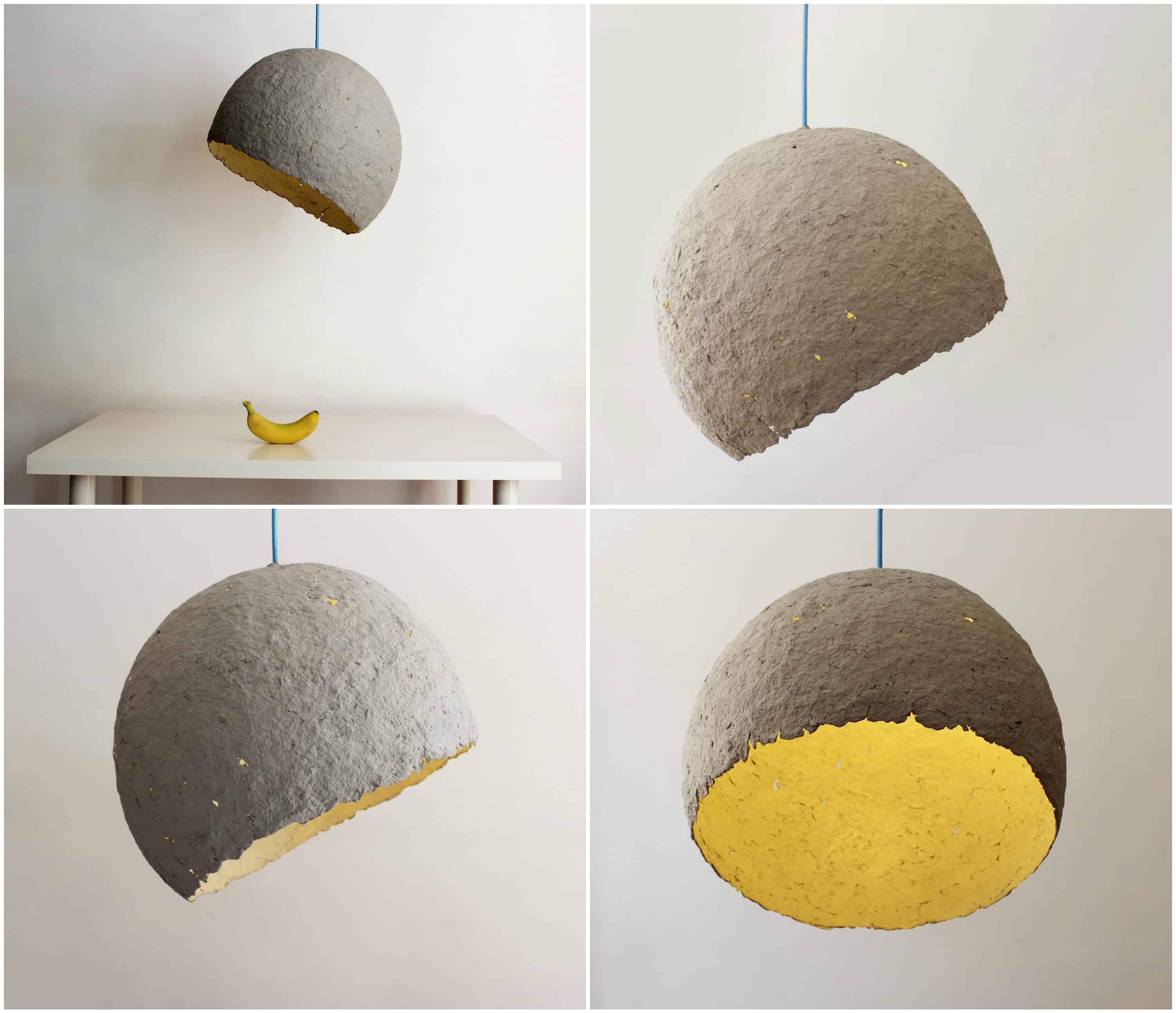 Lamp Made from Paper Waste - Globe • Recyclart for Recycled Paper Lamp  35fsj