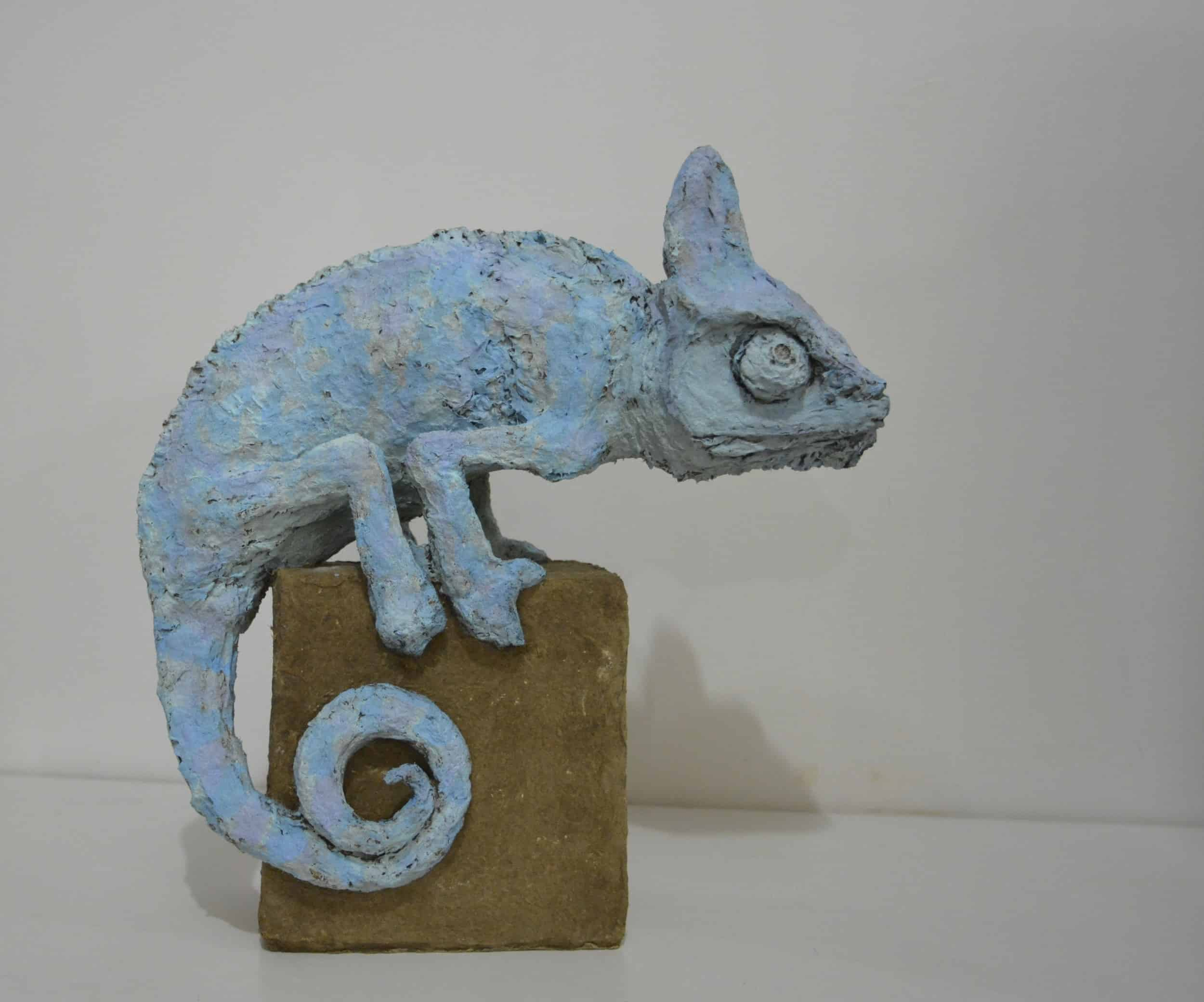 Solid recycled cardboard animal sculptures recyclart for How to make a sculpture out of paper mache