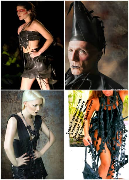 Trash-fashions from Recycled Rubber