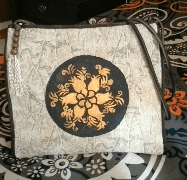 Handy Crafts Bag Made From Upcycled Sofa's Cover
