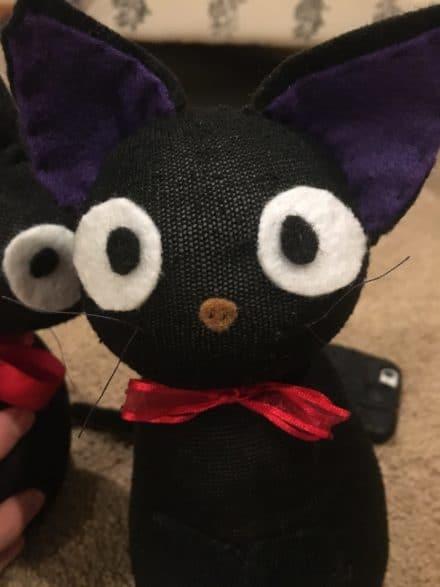 Kiki's Delivery Service Jiji Cat Plush Out of a Sock