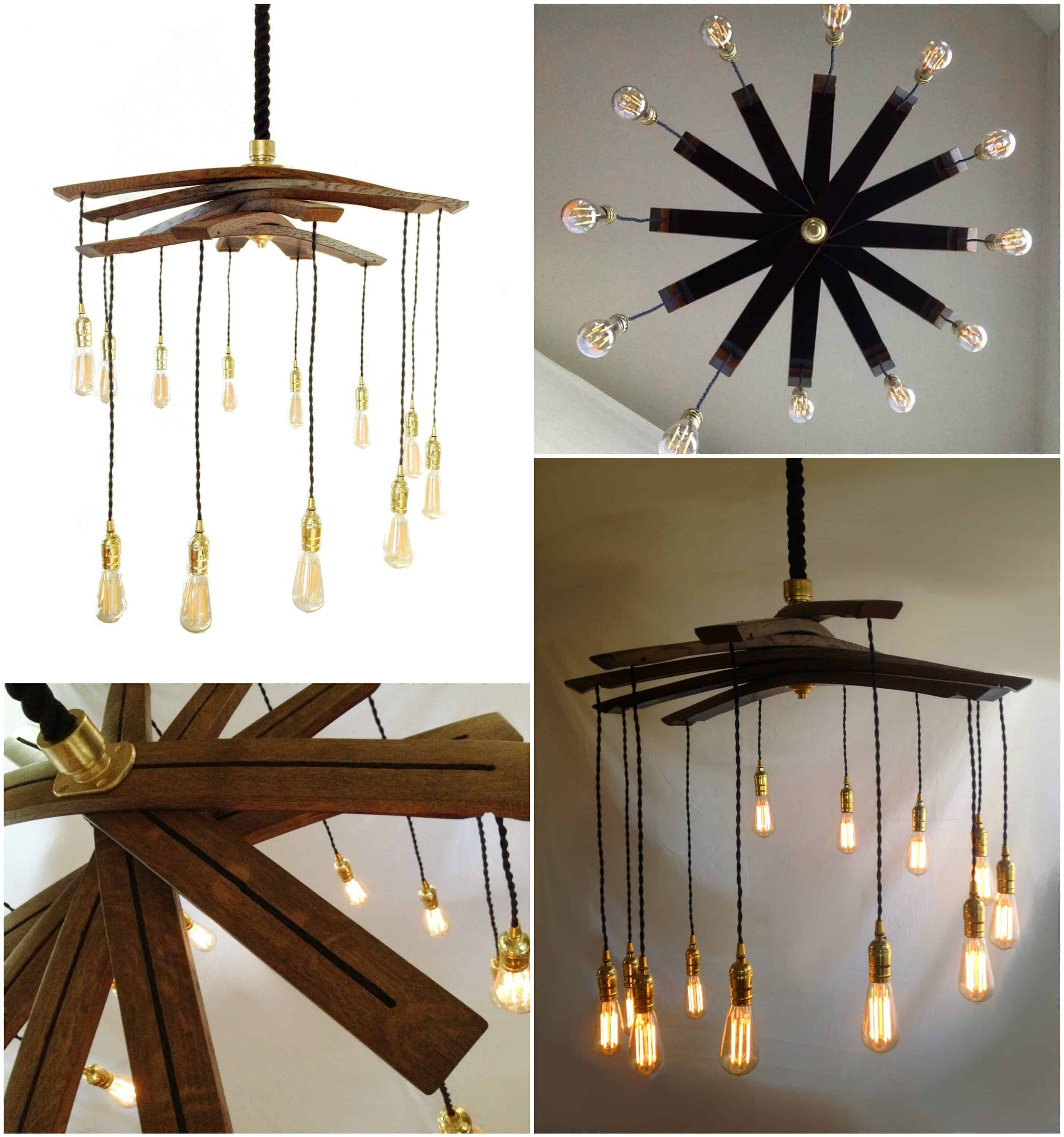 Lucciole recycled wine barrel staves large 12 lights chandelier lucciole recycled wine barrel staves large 12 lights chandelier recyclart arubaitofo Gallery