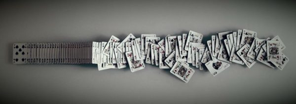 Outrageous Playing Cards Wall Art Captures Movement