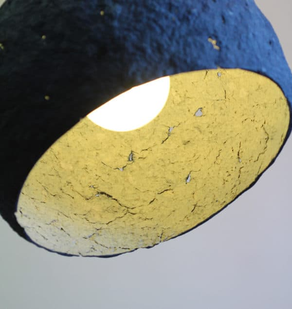 Pluto paper mache lamp recyclart for How to make paper mache lamps