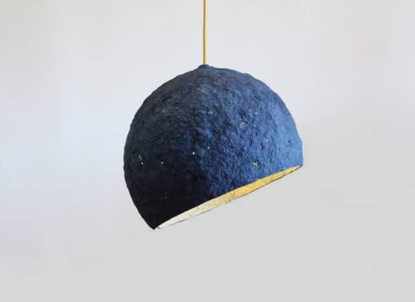 Pluto Paper Mache Lamp