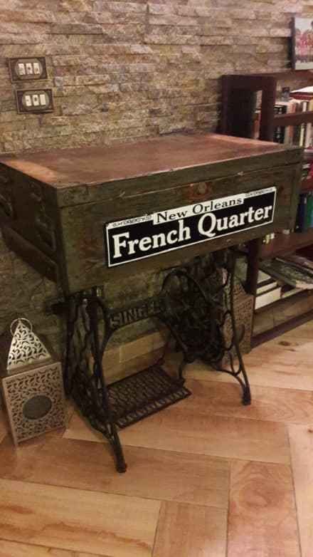 Ammunition Box Into Sewing Machine Table
