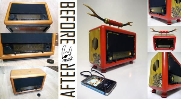 Saved and Refurbished Radios Home & décor Recycled Electronic Waste