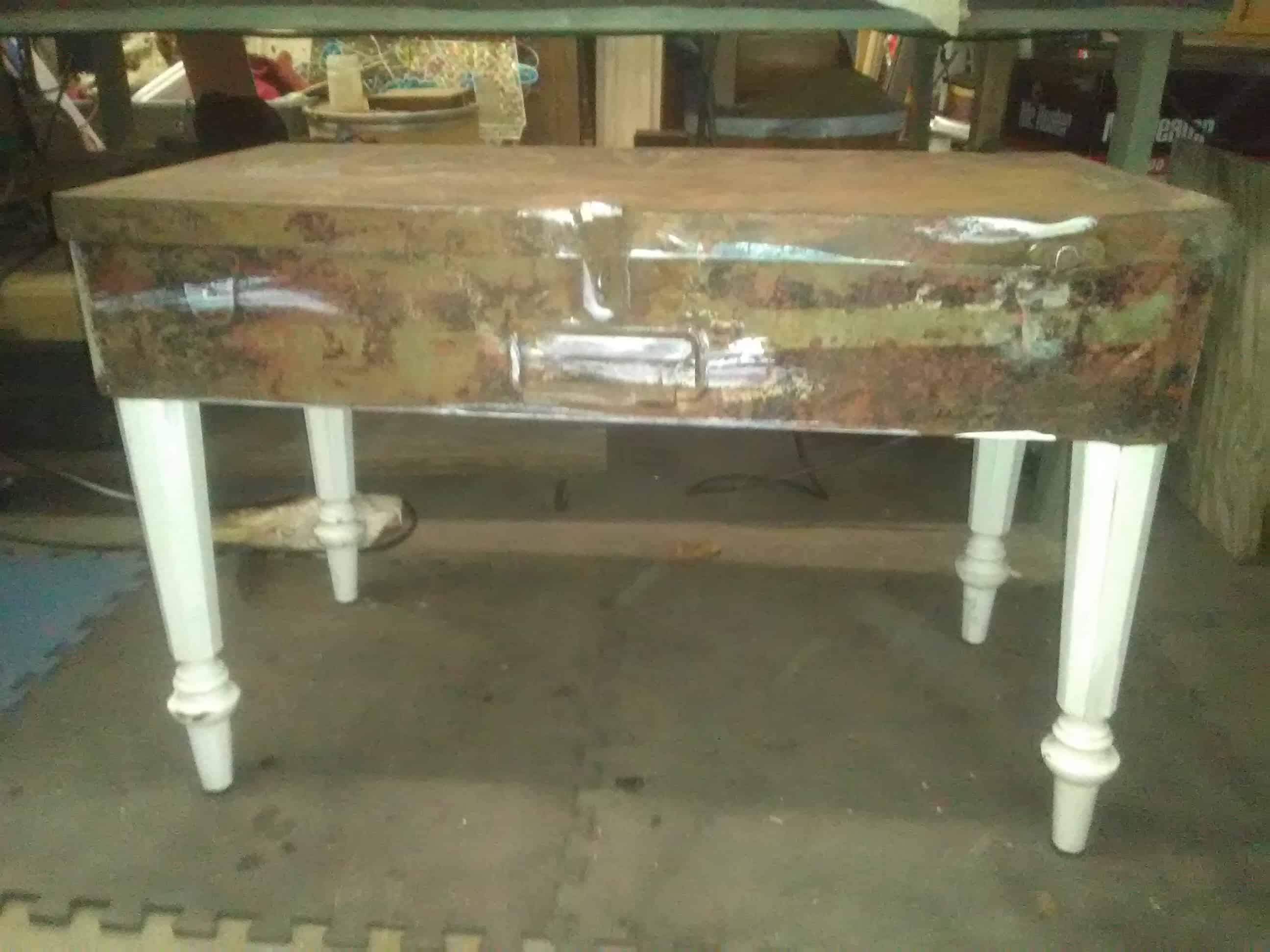 Vintage Metal Tool Box Coffee Table • Recyclart