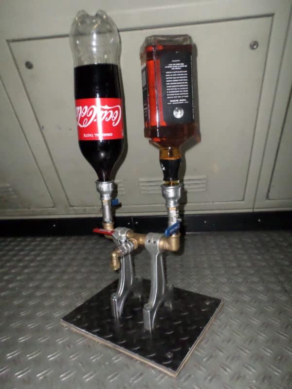 Drinks Dispenser From Recycled Engine Parts