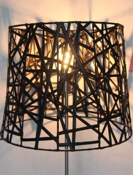 Graphic Lines Inner Tube Lamp Shades