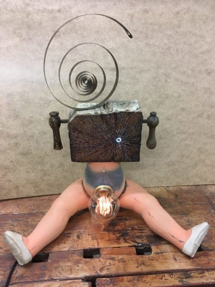 Upcycled Provocative Blended Doll Art