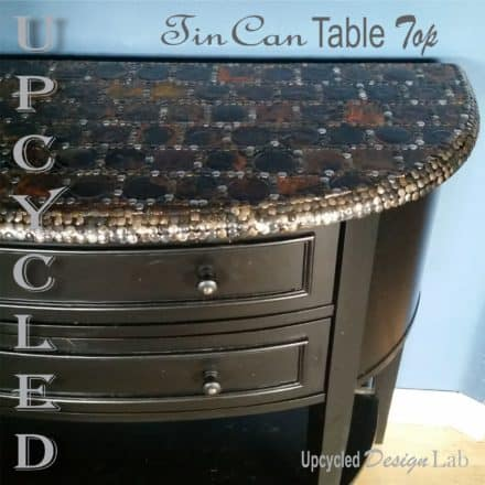 Upcycled Tin Can Lid Table Top Cover Up – Episode 4 of Dogs Vs Cats