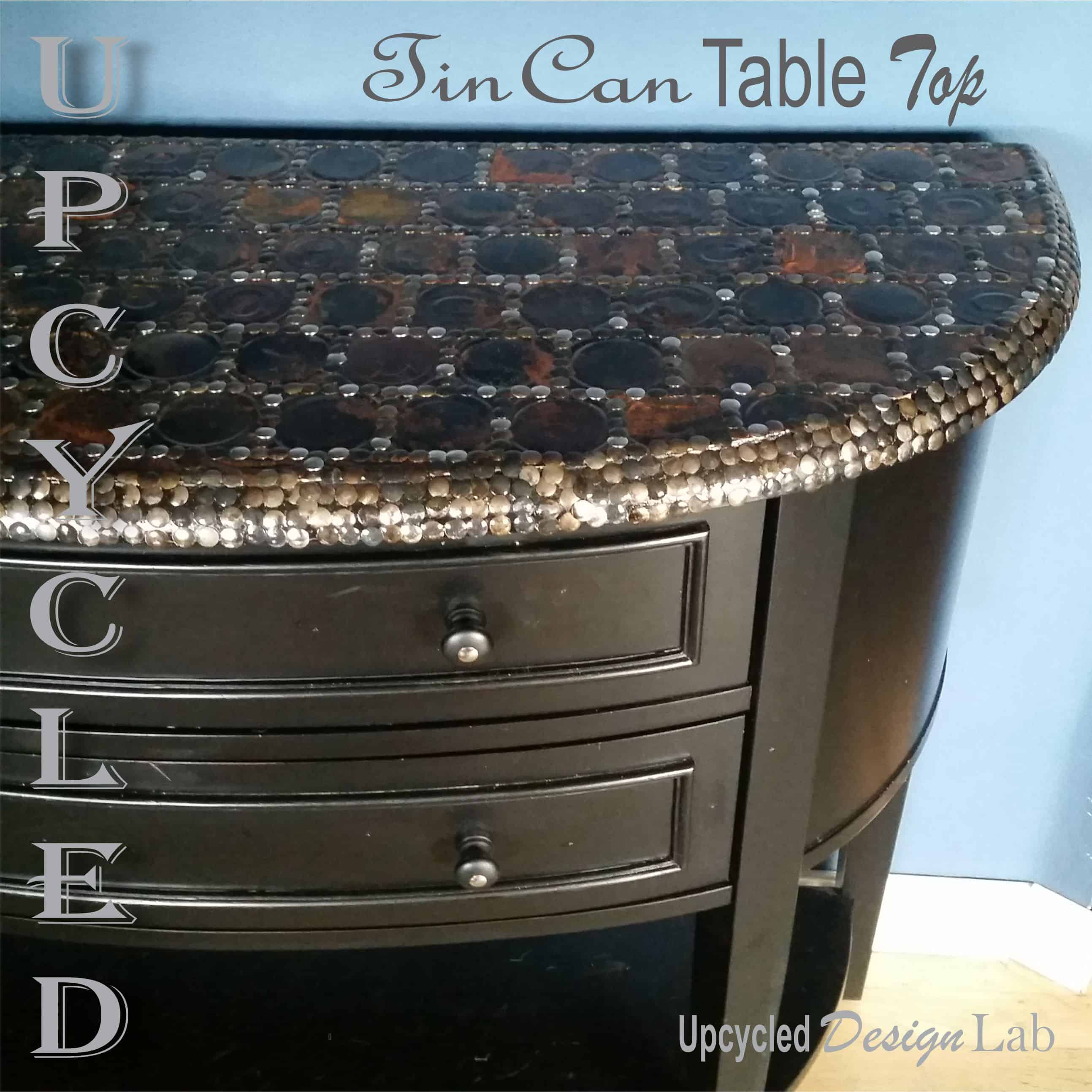 Upcycled Tin Can Lid Table Top Cover Up - Episode 4 of Dogs Vs Cats \u2022 Recyclart & Upcycled Tin Can Lid Table Top Cover Up - Episode 4 of Dogs Vs Cats ...