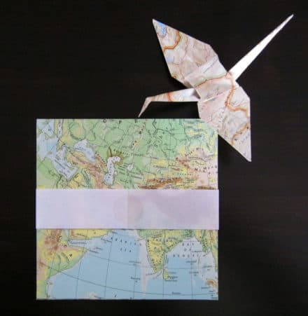 Upcycled Origami Paper From Old Maps