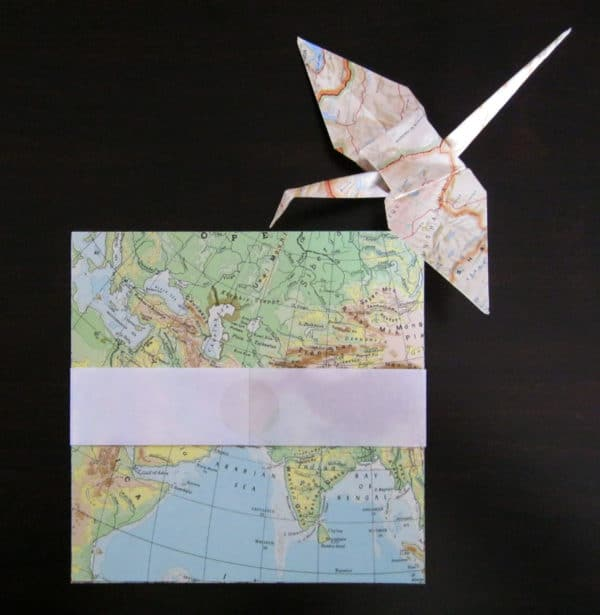 Upcycled Origami Paper From Old Maps Recycling Paper & Books