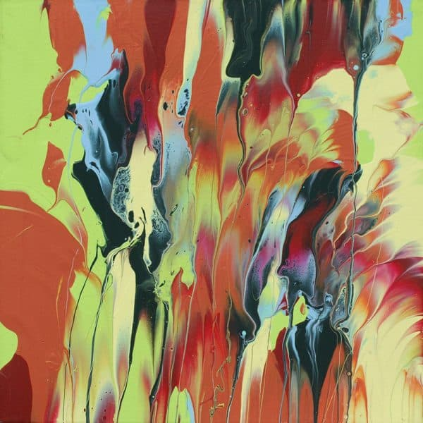Video Tutorial: Leftover House Paint Abstract Art Do-It-Yourself Ideas Recycled Art