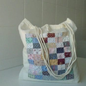 Decorative Scrap Cloth Cotton Bag Can Upcycle Memories