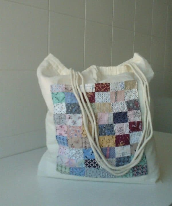 Decorative Scrap Cloth Cotton Bag Can Upcycle Memories