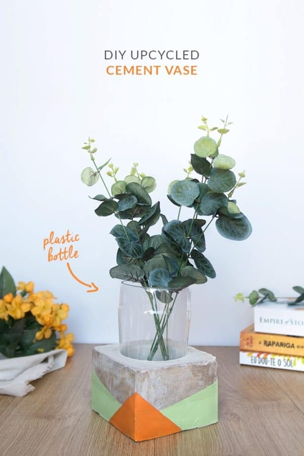 Diy Video Tutorial: Plastic Bottle Cement Vase Recycled Plastic
