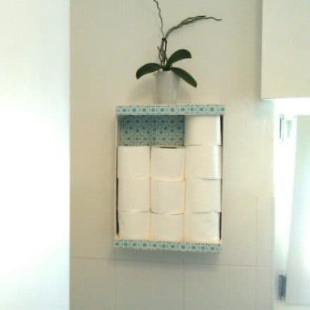 Fruit Box Becomes Decorative Toilet Paper Storage