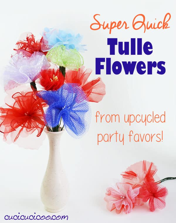 Simple Upcycled Tulle Flowers Do-It-Yourself Ideas Recycled Plastic