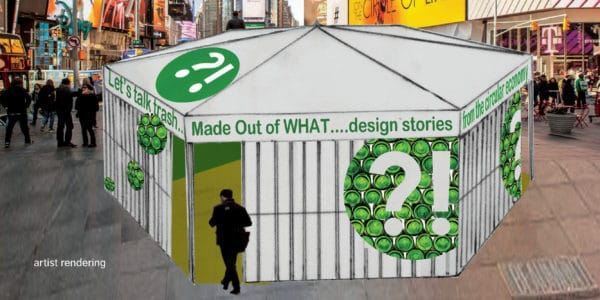 Transformed Trash Displayed In Times Square Interactive, Happening & Street Art Recycled Art
