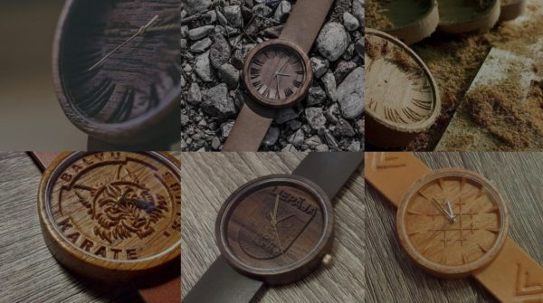 Upcycled Hardwood Becomes Wooden Watches