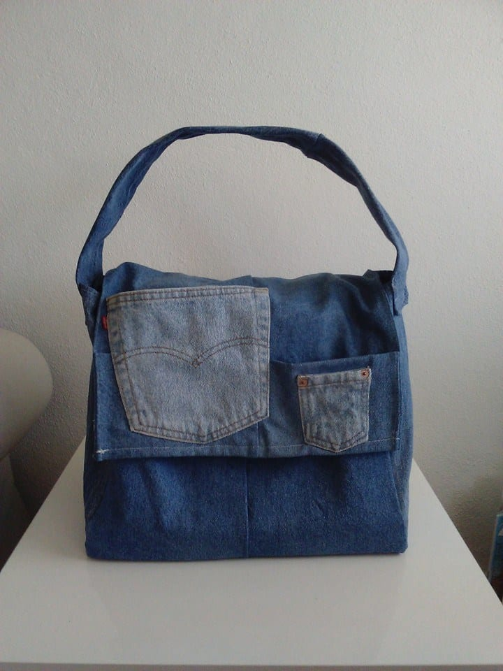 Upcycled Levi Strauss Jeans Into Bags Recyclart
