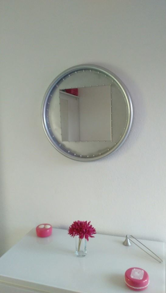Upcycled Mirror For Daughter's Room Or Bathroom Vanity