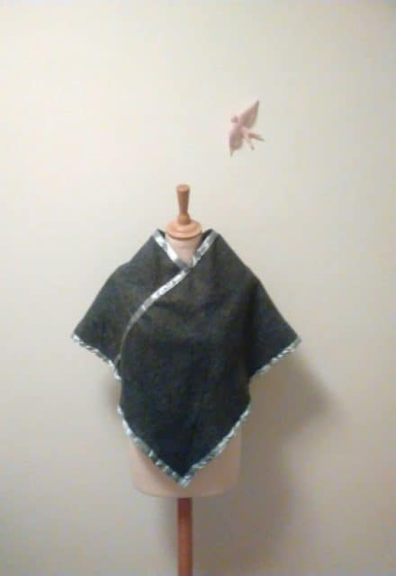 Upcycled Polar Fleece Poncho For Blustery Weather