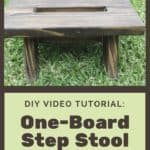 Diy Video Tutorial: Upcycled Deck Board Step Stool
