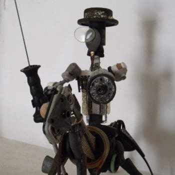 Don Quijote De La Mancha Upcycled Scrap Sculpture
