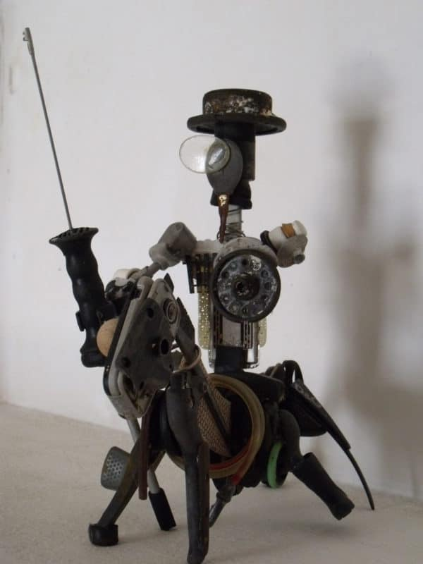 Don Quijote De La Mancha Upcycled Scrap Sculpture Recycled Art