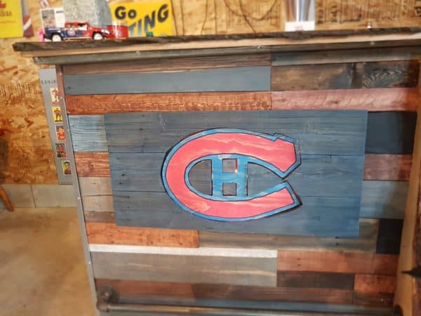 Led-lit Fractal-burned Pallet Bar For Your Man Cave Recycled Pallets Recycling Metal