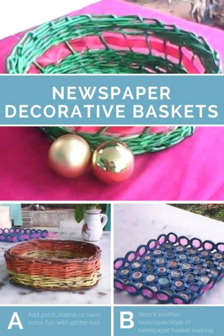 Newspapers Become Decorative Paper Baskets!