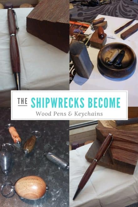 Shipwrecks Become Wood Pens/Keychains