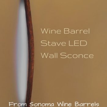Sonoma Wine Barrel Stave Led Sconce